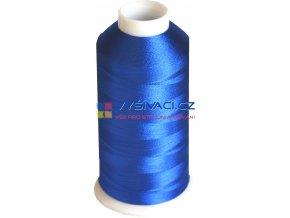 Vyšívací nit viskózová modrá C777