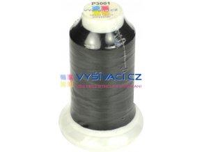 polyesterová vyšívací nit P3001 černá 1000m