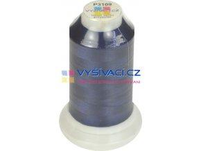 polyesterová vyšívací nit P3109 modrá 1000m