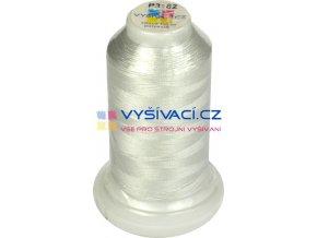 polyesterová vyšívací nit P3182 šedá 1000m