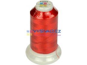 polyesterová vyšívací nit P3065 červená 1000m