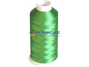 Vyšívací nit polyesterová P3166 zelená
