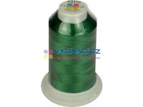 vyšívací nit polyester barva zelená P3170 návin 1000m  33,30 Kč s DPH za kón při nákupu balení 10 kusů