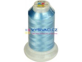 polyesterová vyšívací nit P3133 modrá 1000m