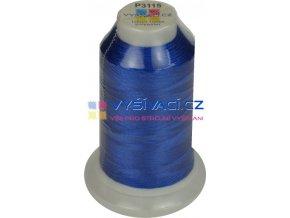 polyesterová vyšívací nit P3115 modrá 1000m