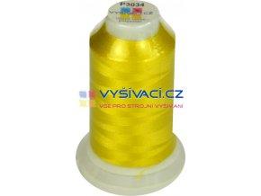 polyesterová vyšívací nit P3034 žlutá 1000m