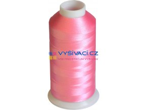 Vyšívací nit polyesterová P3084 růžová
