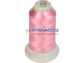 polyesterová vyšívací nit P3084 růžová 1000m