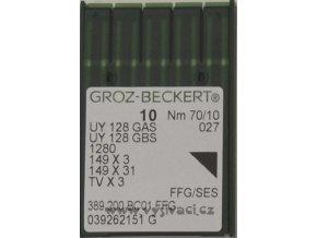 jehla UY128  70 SES Groz-Beckert, balení 10ks