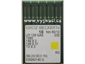 jehla UY128  80 RG Groz-Beckert, balení 10ks