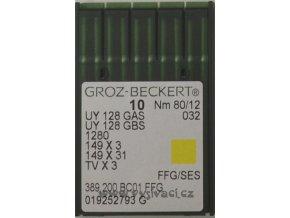 jehla UY128  80 SES Groz-Beckert, balení 10ks