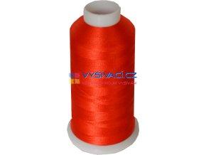 Vyšívací nit polyesterová P3063 červená