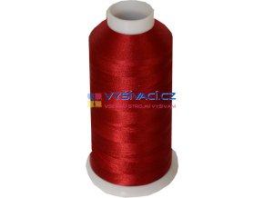 Vyšívací nit polyesterová P3077 vínová červená