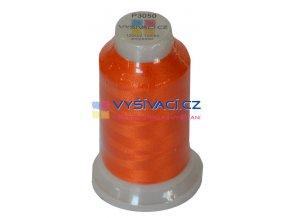 polyesterová vyšívací nit P3050 oranžová 1000m