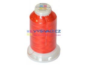 polyesterová vyšívací nit P3063 červená 1000m
