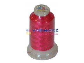 polyesterová vyšívací nit P3075 fuchsiová 1000m
