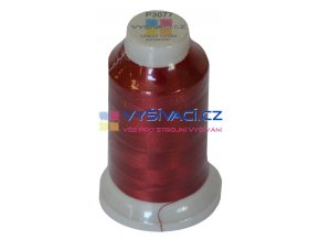 polyesterová vyšívací nit P3077 vínově červená 1000m