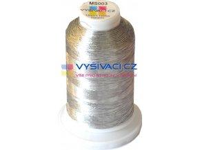 vyšívací nit metalická stříbrná MS003, návin 1000m  108,90 Kč s DPH za kón při nákupu balení 10 kusů