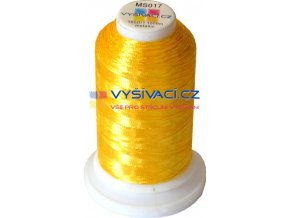 Vyšívací nit metalická MS017 zlatá2