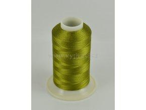 vyšívací nit zelená ROYAL C421 návin 1000m viskóza