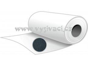 NOVOFIXIN N70č - pevný stříhací podkladový materiál pro vyšívání, gramáž 70g/m2, barva černá, šíře 80cm, DOPRODEJ ZBYTKU ROLE 5,0m