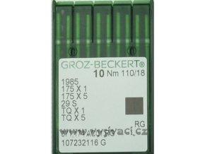 jehla TQx1 110 RG Groz-Beckert, balení 10ks nebo 100ks