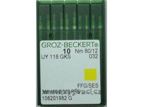 jehla pro šicí stroje UY118 GKS nm 80 12 FFG SES