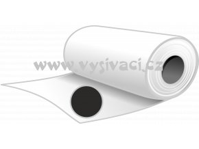 SPOFIX S80č - pevný stříhací podkladový materiál pro vyšívání, gramáž 80g/m2, šíře 100cm, barva černá, DOPRODEJ ZBYTKU ROLE 9,7m