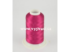 vyšívací nit růžová fuchsia ROYAL C450 návin 1000m viskóza