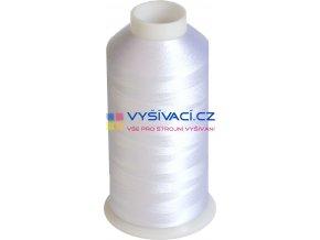 vyšívací nitě bílá ROYAL C001 návin 5000 metrů viskóza