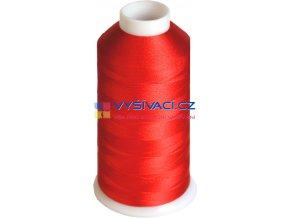 Vyšívací nit viskózová červená C715