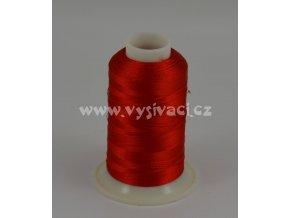 vyšívací nit červená ROYAL C717 návin 1000m viskóza