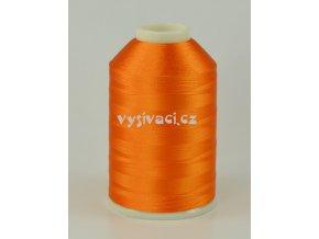 vyšívací nitě oranžová ROYAL C720 návin 5000 metrů viskóza