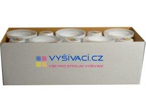 vyšívací nit bílá ROYAL C001 návin 1000m viskóza  dočasně nahrazena nití Sulky 1001