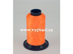 vyšívací nitě ROYAL P810 barva fluo oranžová, polyester, návin 1000m