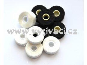 předvinuté spodní cívky SPOLYPRE 100% polyester, síla 75D/2, barva mix, balení 10ks