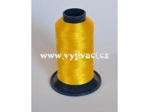 vyšívací nit žlutá ROYAL P008 1000m polyester
