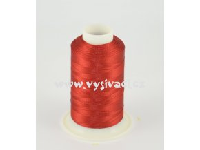 vyšívací nit červená ROYAL C725 návin 1000m viskóza