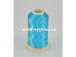 vyšívací nit modrá tyrkys ROYAL C104 návin 1000m viskóza