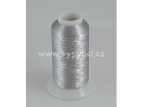 vyšívací nit metalická stříbrná ROYAL AS001, návin 2500m