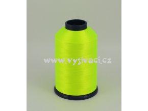vyšívací nitě ROYAL P808 barva fluo žlutozelená, polyester, návin 5000m