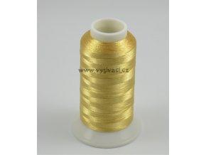 vyšívací nit metalická zlatá ROYAL PG002, návin 2500m