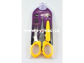 nůžky na aplikace, rovná ostrá špička s mikrozoubky, délka 12cm