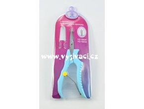 nůžky vyšívací se zahnutou ostrou špičkou ergonomické, délka 12cm