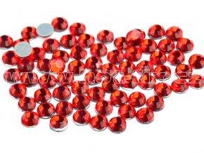 hot-fix skleněné nažehlovací kameny na textil barva 103 Siam červená, velikost SS6 až SS20, balení 144ks
