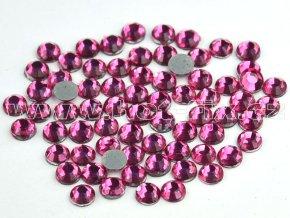 hot-fix skleněné nažehlovací kameny na textil barva 106 Rose, velikost SS6 až SS16
