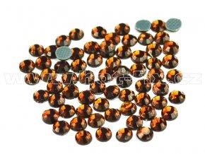 hot-fix skleněné nažehlovací kameny na textil barva 108 Topaz tmavý, velikost SS6 až SS20
