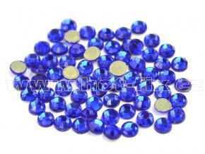 hot-fix skleněné nažehlovací kameny na textil barva 116 Cobalt, velikost SS6 až SS20