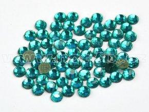 hot-fix skleněné nažehlovací kameny na textil barva 140 Blue zircon, velikost SS6 až SS16