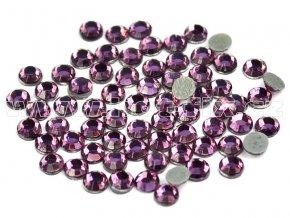 hot-fix skleněné nažehlovací kameny na textil barva 122 Amethyst, velikost SS6 až SS20